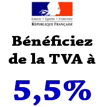 Qui a droit  la TVA  5,5 % pour ses travaux?