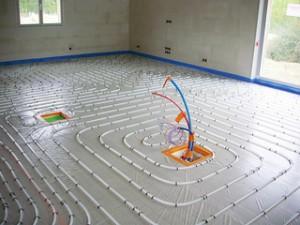 Isolation par le sol: plancher chauffant