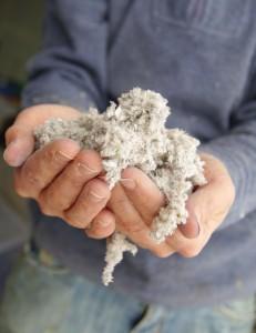 Isolation par de la fibre de cellulose projetée