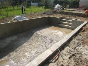 Etapes de la création d'une piscine