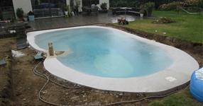 Les travaux de construction de piscine
