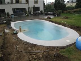 Travaux de construction de piscine