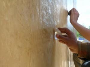 Application tadelakt sur mur