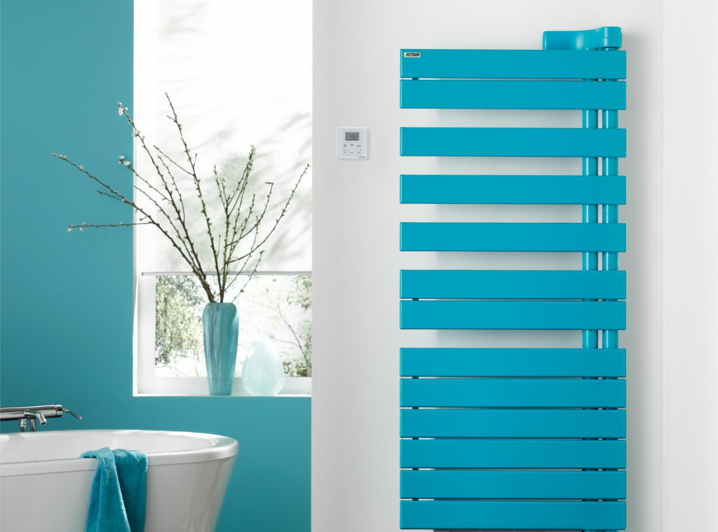 radiateur design chauffage central turquoise