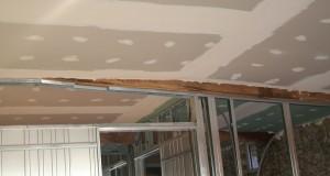 Travaux de rénovation de plafond