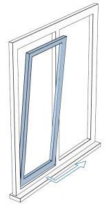 ouverture fenêtre coulissante deportee