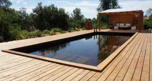 La piscine avec intérieur bois, ça existe et c'est vraiment sympa