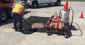 La réparation et l'entretien d'un asphalte